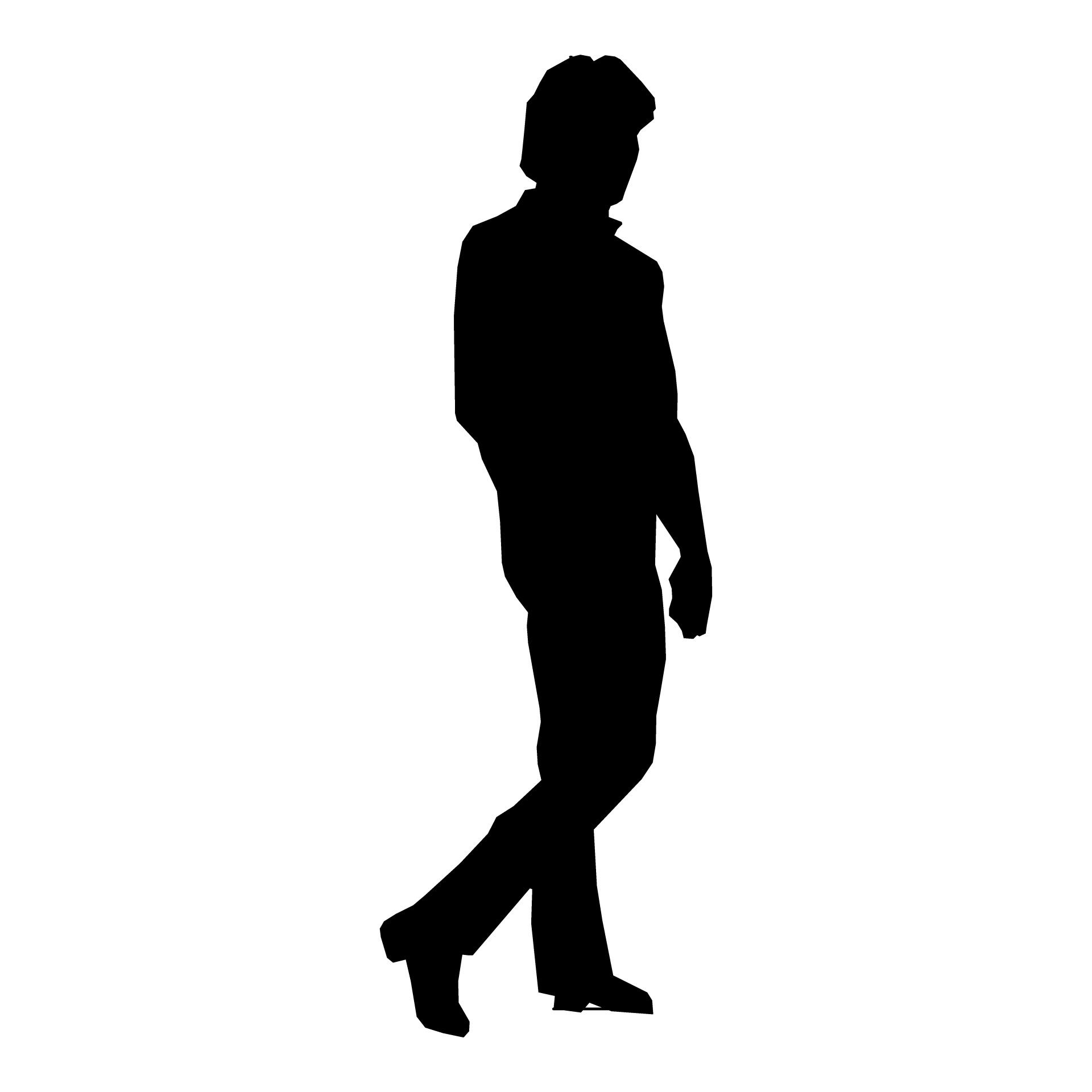 Silhouette Paintings Of People Silhouette Man Walking People I 2019 Silhouette Clip