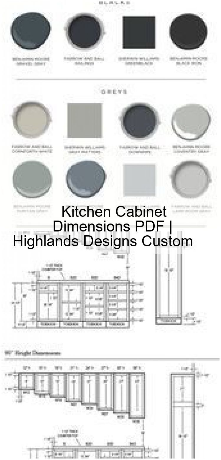 Photo of Kitchen Cabinet Dimensions PDF | Highlands Designs Custom ,  #cabinet #custom #designs #dimen…
