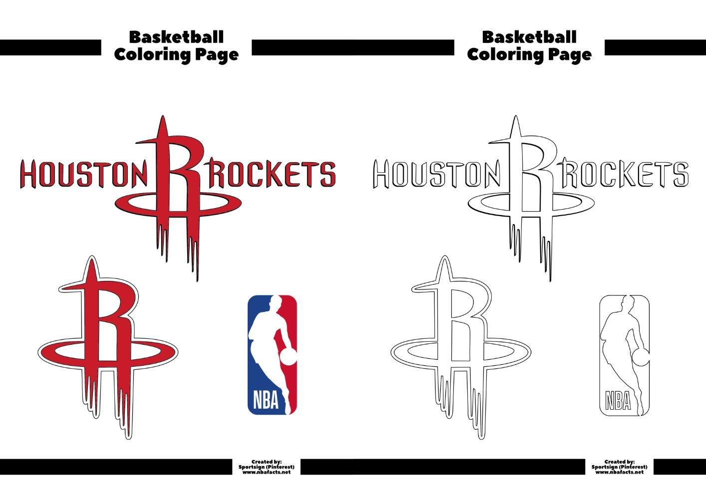 Houston Rockets Basketball Coloring Sheet Basketball Coloring Houston Rockets Sheet Houston Rockets Basketball Rockets Basketball Houston Rockets