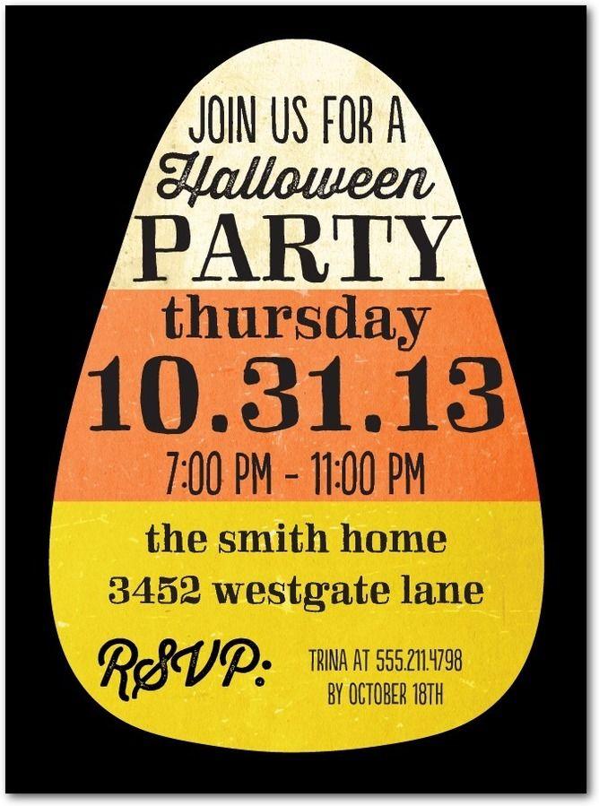 Kinda Candy Corny party invite