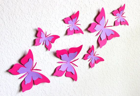 3D Butterfly Wall Art Nursery Wall Art By MyDreamDecors On Etsy