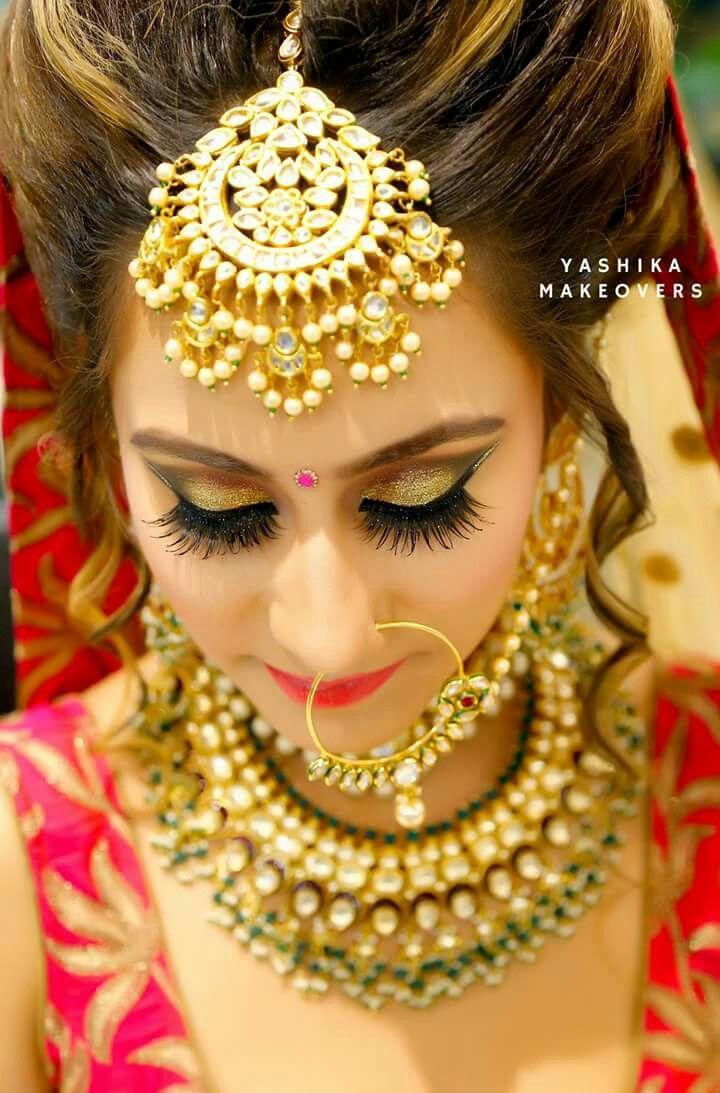 Indian wedding makeup image by Sweety on wedding jewellery