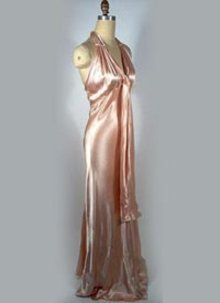 1930s pink satin gown - Courtesy of pastperfectvintage.com