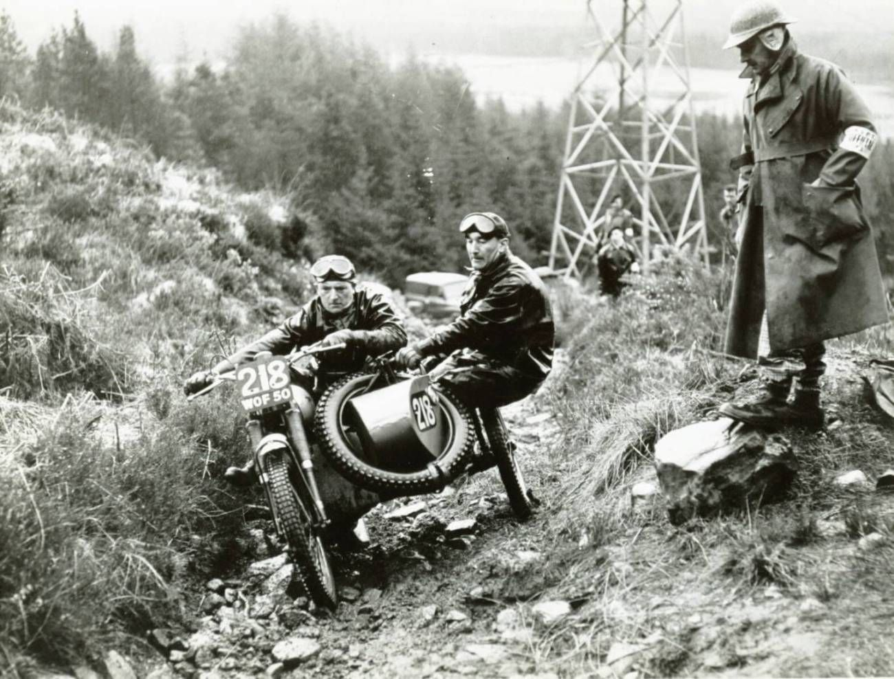 Sam Seston on his factory BSA, at Muirshearlich in the ...