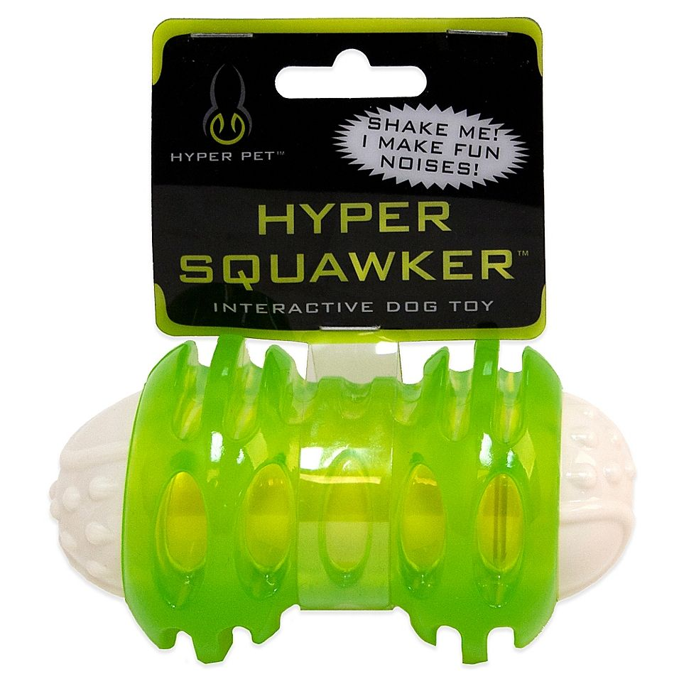 Hyper Pet 4 3 4 Inch Squawker Bone Dog Toy In Green White