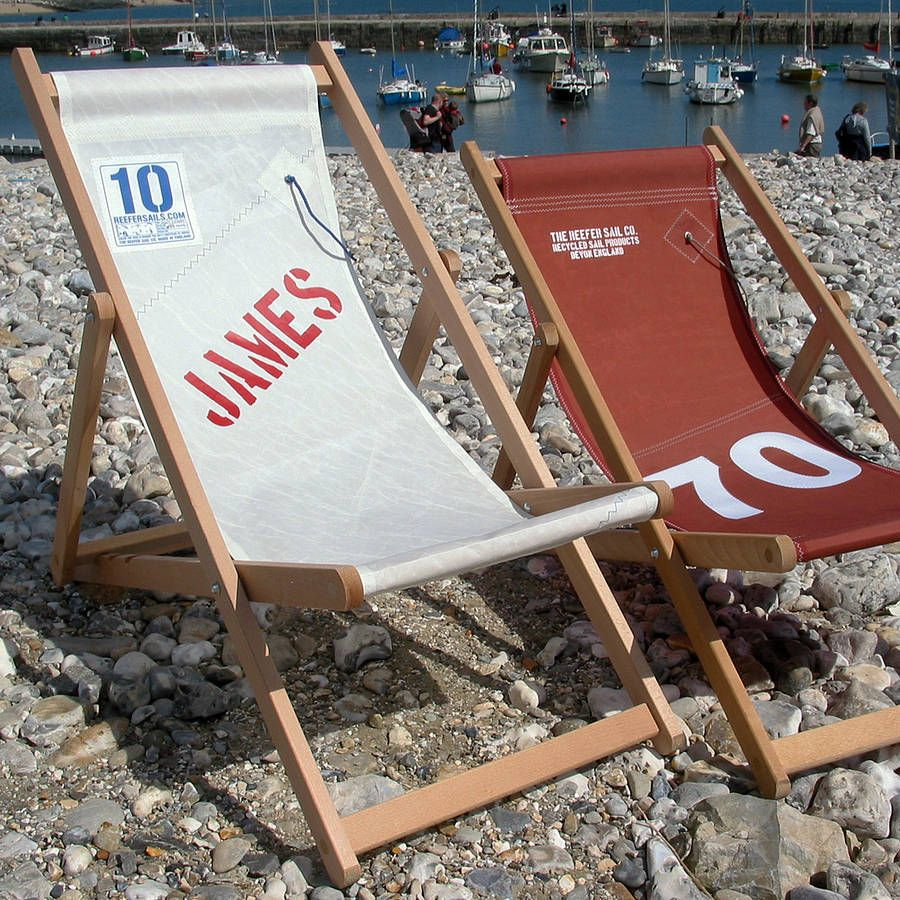 sailcloth beach chairs hanging wicker egg chair nz recycled deckchair for the home recycling sailing deck