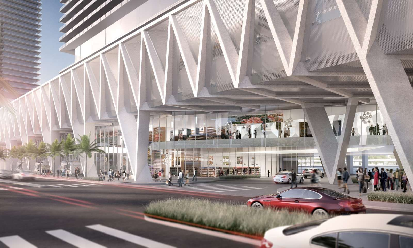 In these days, SOM revealed its design for the Miami hub of All Aboard Florida's passenger rail line. The terminal will be one of three that connects more