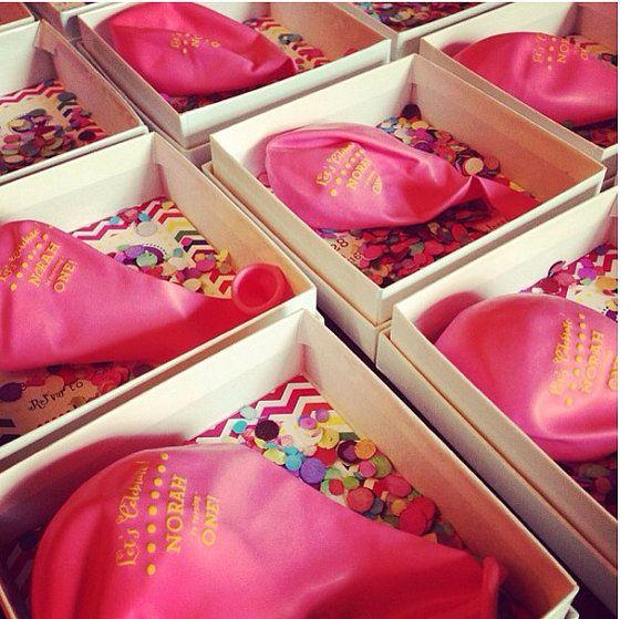 Custom Design Balloon Invitation in a box with by ohgoodiedesigns - fresh invitation box