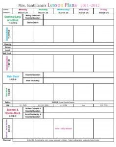 Third Grade Common Core Lesson Plan Template  Lesson Plan