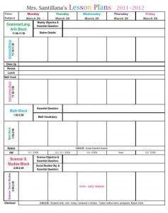 Third Grade Common Core Lesson Plan Template  Lesson Plan