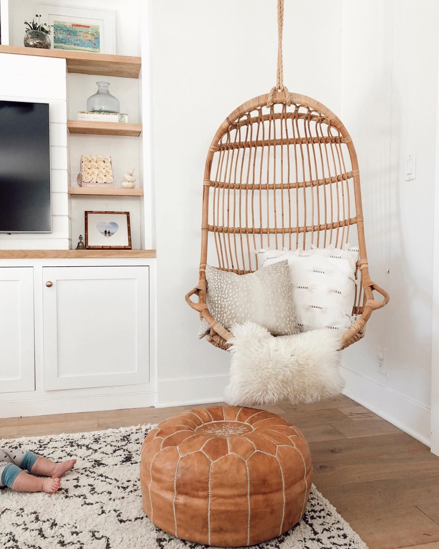 Hanging Rattan Chair In 2020 Bedroom Hanging Chair Room Swing Hanging Rattan Chair
