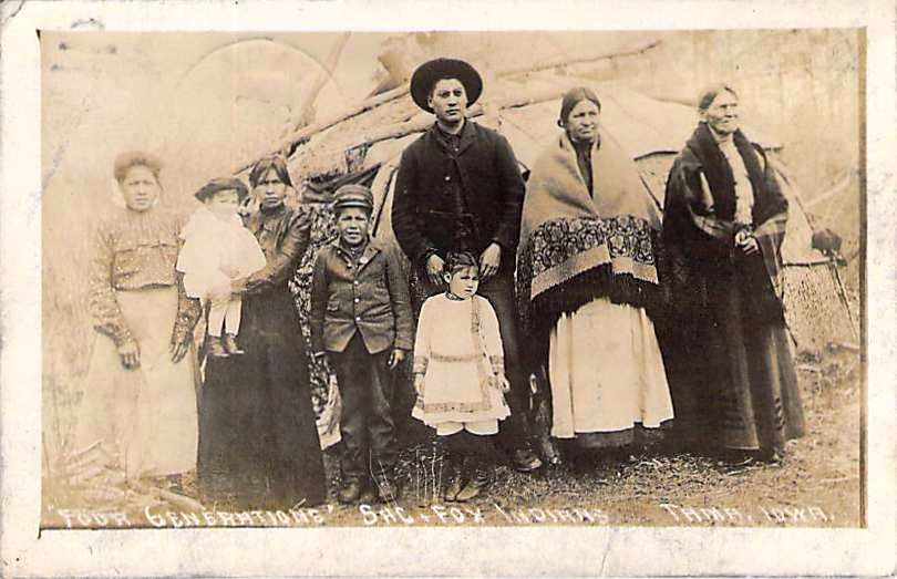 1910-Four Generations of SAC & Fox Indians, Tama, Iowa | Postcards ...