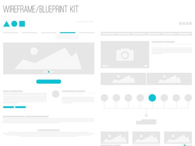 wireframe / blueprint kit | wireframe, ui ux and mockup, Powerpoint templates