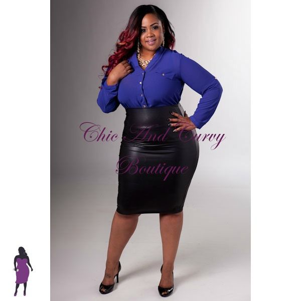 New Plus Size Liquid Pencil Skirt & New Plus Size Career Wear ...