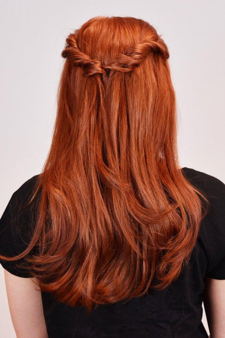 This Sansa Stark Twist Tutorial Is Basic But No Less Badass Hair Styles Sansa Stark Hair Red Ombre Hair