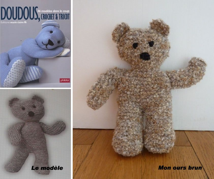 tricoter ours laine