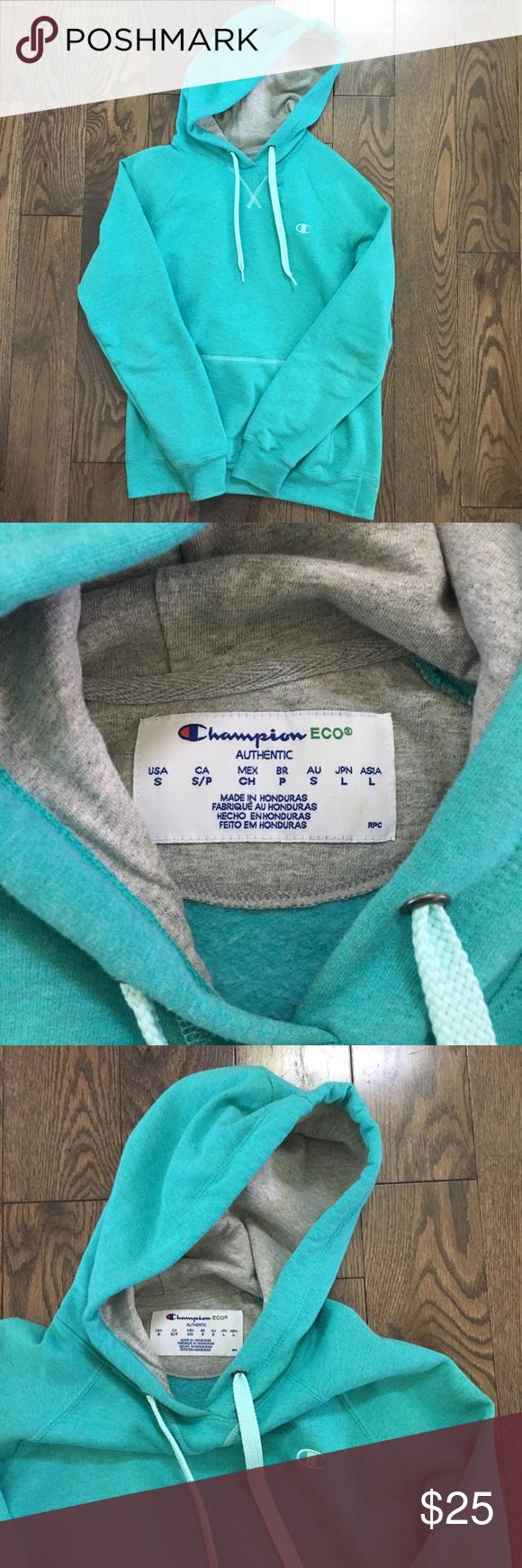Champion Sweatshirt Hoodie Blue Turquoise Sz S Champion Sweatshirt In Pretty Tiffany Blue Turquoise Color Sup Champion Sweatshirt Clothes Design Champion Tops [ 1740 x 580 Pixel ]