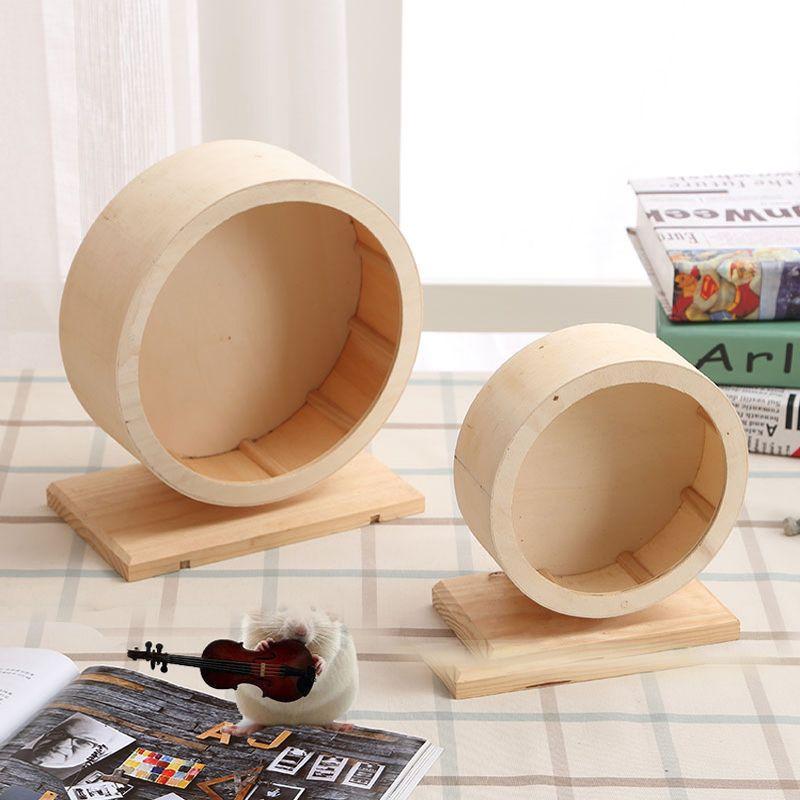 Wooden Exercise Wheel for Hamster, Medium Diameter S M L