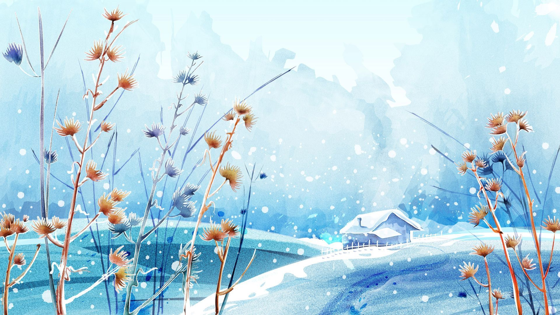 Anime Winter Scenery Wallpaper Find best latest Anime