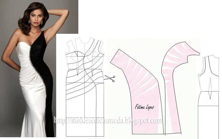 MOLDES DE VESTIDOS | Costura | Pinterest | Coser vestido, Costura y ...