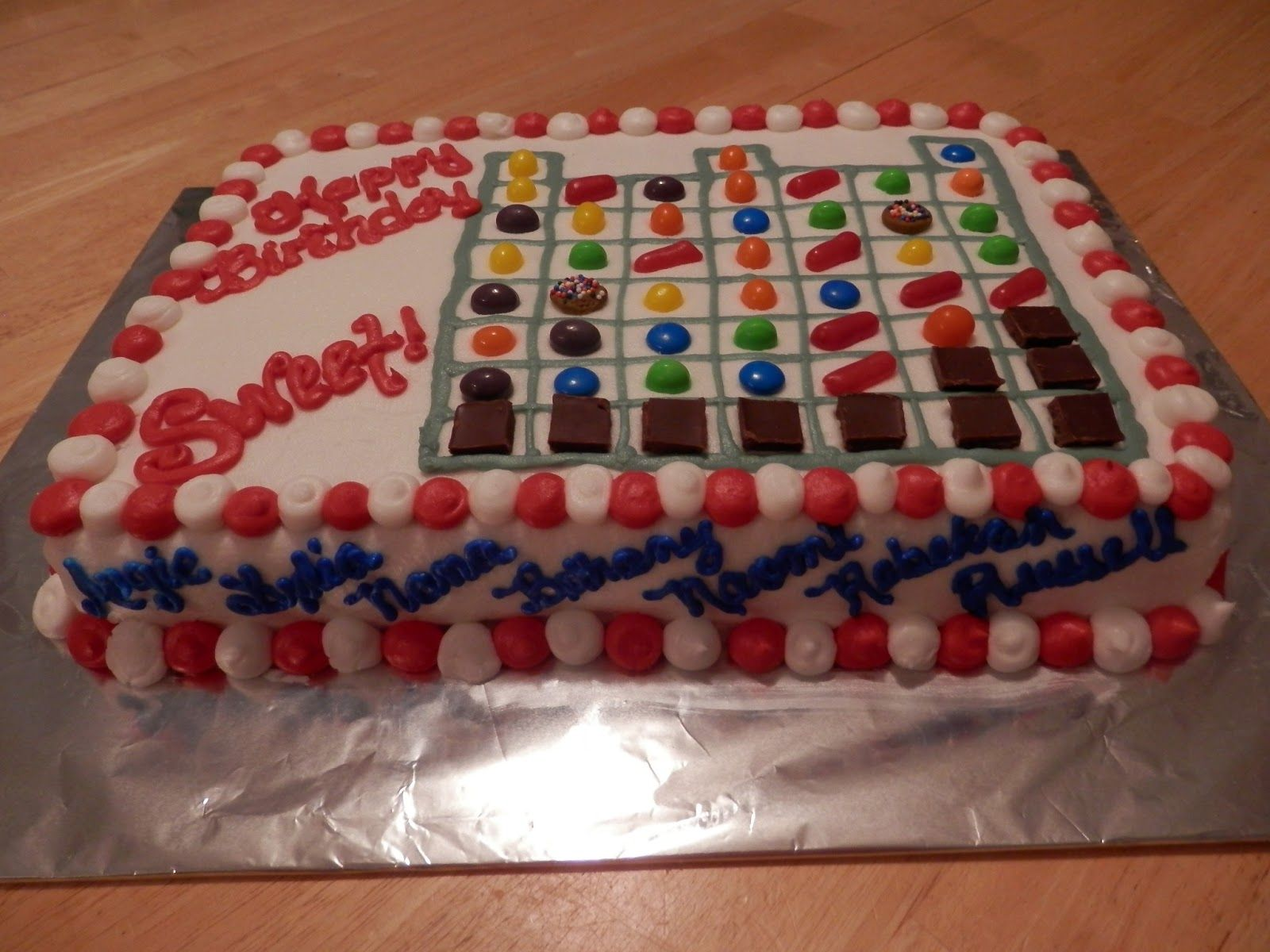 candy birthday cakes | Angie Makes Cakes