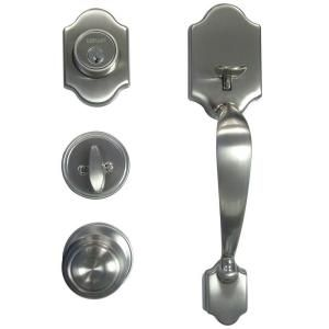 Defiant Springfield Satin Nickel Mushroom Door Handleset House Reselling Door Locks Door Handle Sets Doors