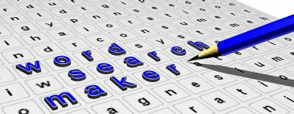 Create your own wordsearches by size and age level-- great resource ...