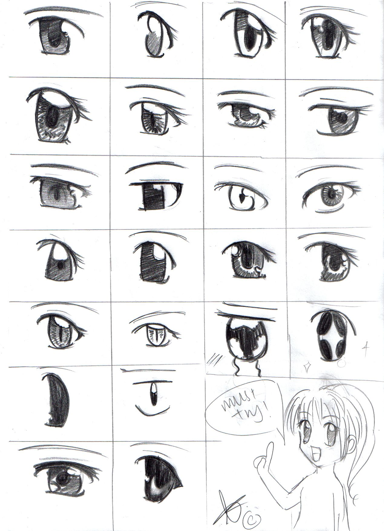 How To Draw Anime  How To Draw Shojo Eyes By Silvercorals Manga Anime  Traditional Media
