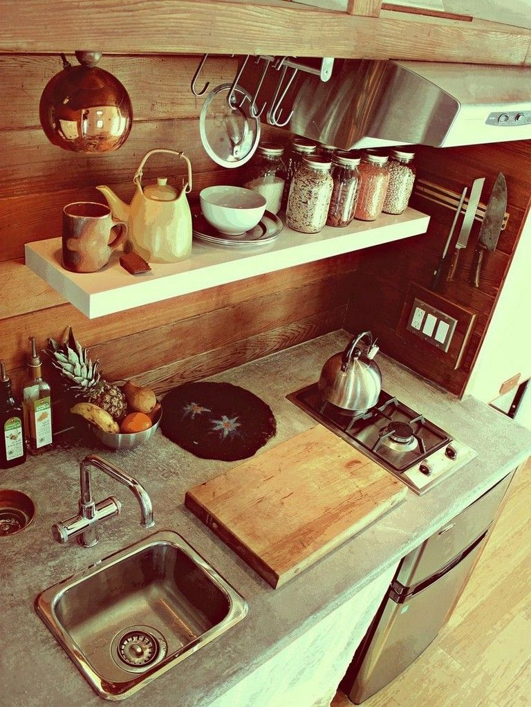 52 Awesome Tiny House Small Kitchen Ideas Page 44 of 52