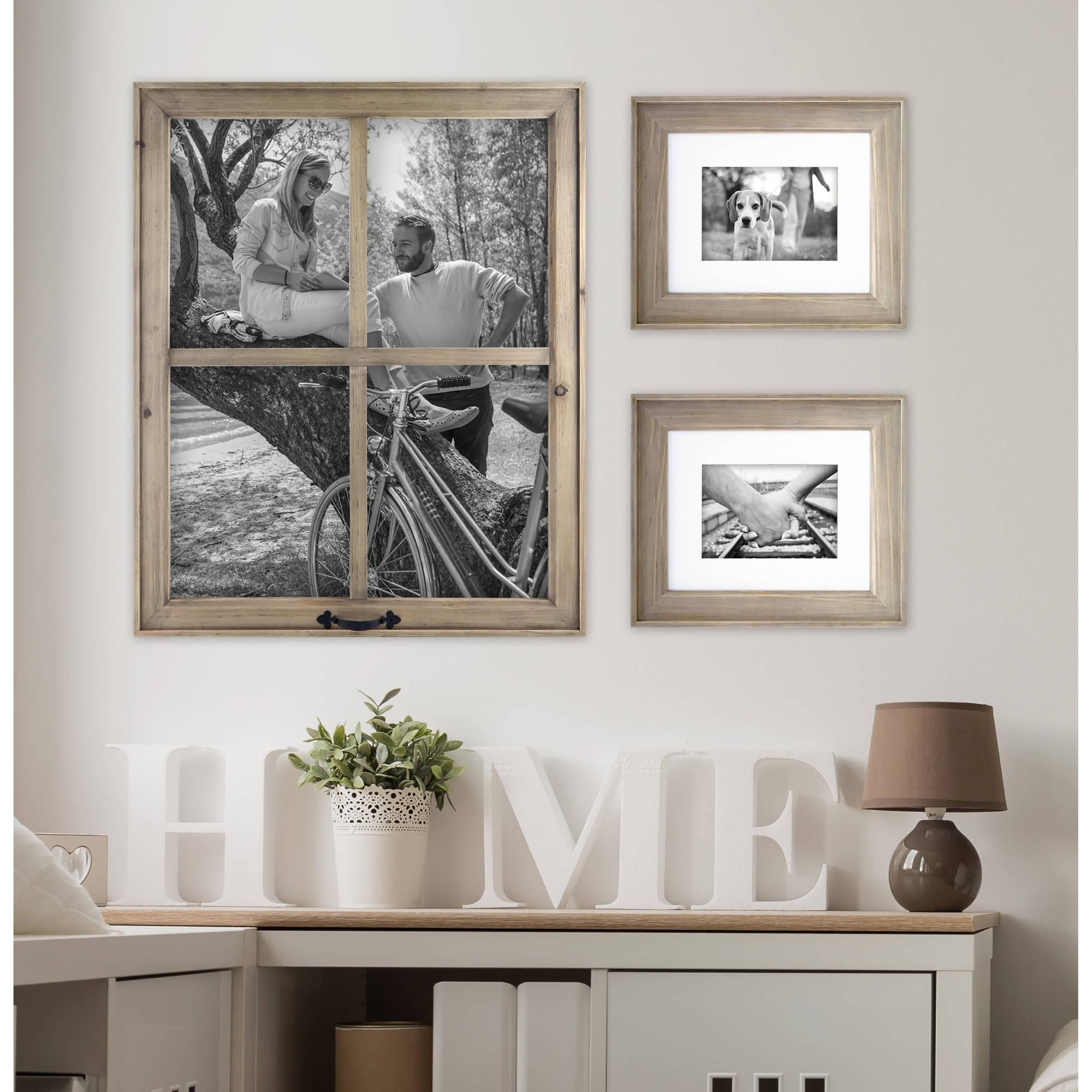 Better Homes & Gardens 4 Opening Rustic Windowpane Collage Frame