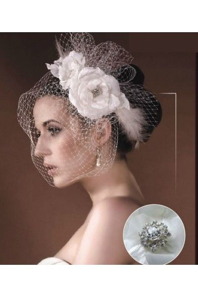 coiffures retro and chignons on pinterest - Bibi Mariage Voilette