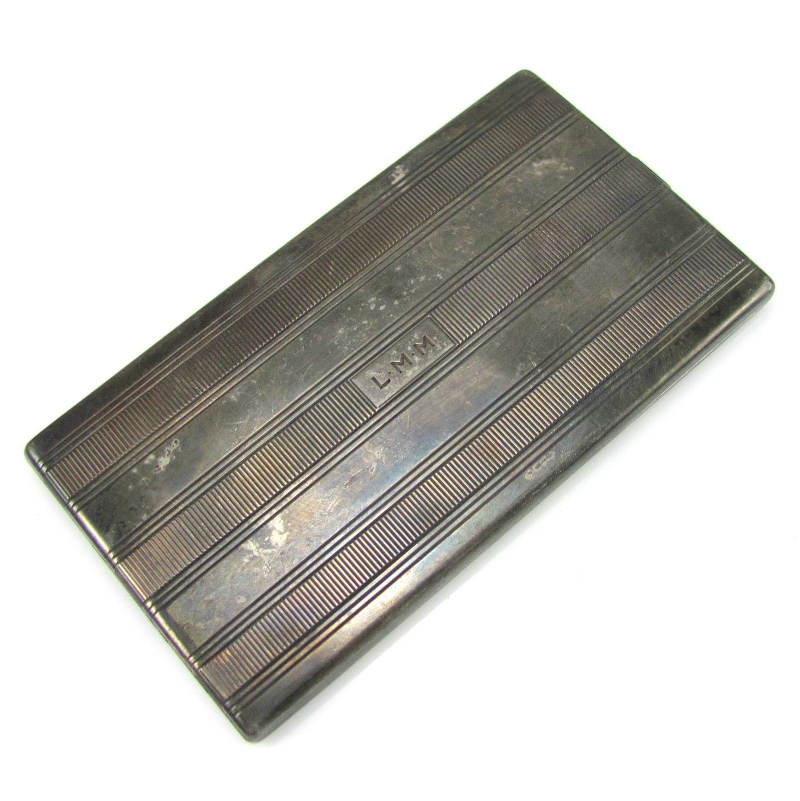 Vintage TIFFANY & CO Sterling Silver Gold Washed Cigarette Case - NE RM | eBay