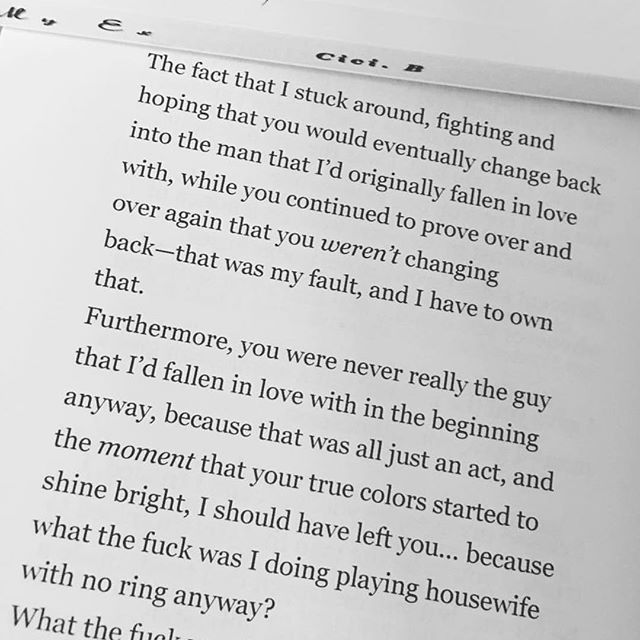 From my first book Letters To My Ex
