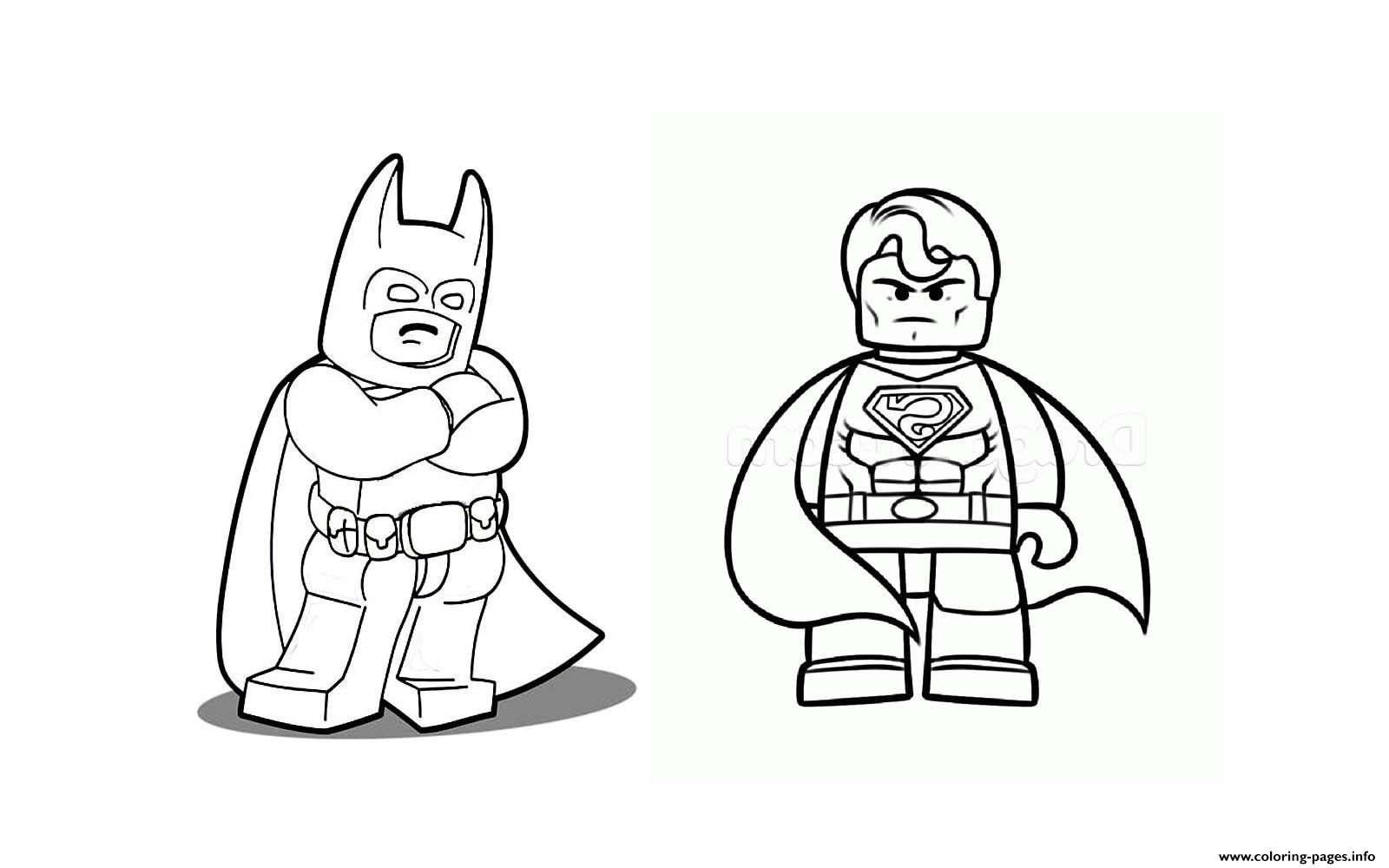 Batman And Superman Lego Coloring Pages In 2020 Lego Coloring Pages Superman Coloring Pages Superhero Coloring Pages