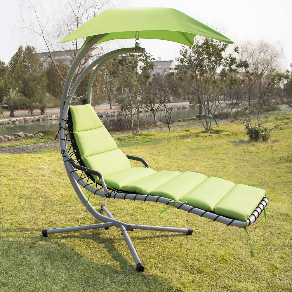 Hanging Chaise Lounge Dream Chair Arc Stand Air Porch Swing Hammock