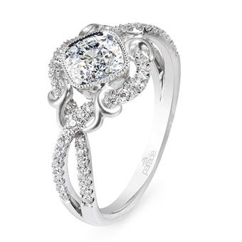 Brides Magazine: Unique Engagement Ring Settings