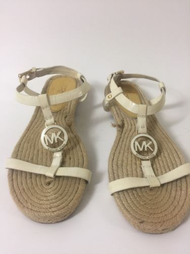 Micheal Kors Flat Women Sandal Off White 6M