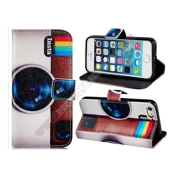 cfd9de5d282 Si quieres el diseño más espectacular, esta Funda divertida cartera diseño  instagram para iPhone 5S es perfecta para ti. Viste tu smartphone a la  última ...