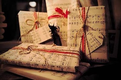 music sheets to be used as wrapping paper