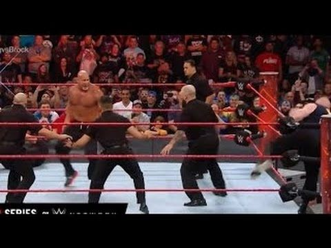 Goldberg Attack Brock Lesnar And Her Bodyguard Wwe Raw 14112016 Full Hd Bodyguard Official Trailer Youtube
