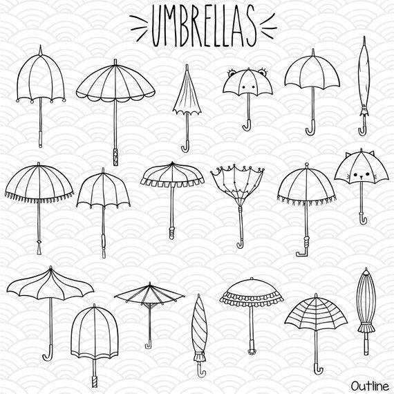 38 Umbrella Clip Art Hand Drawn Vintage Beach Parasol Vector Etsy In 2020 How To Draw Hands Umbrella Tattoo Umbrella Drawing