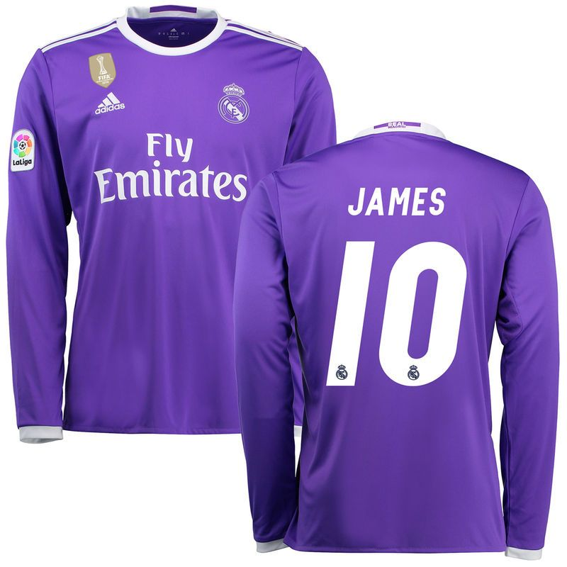new styles 64a03 0f678 James Rodríguez Real Madrid adidas 2016/17 Away World Cup ...
