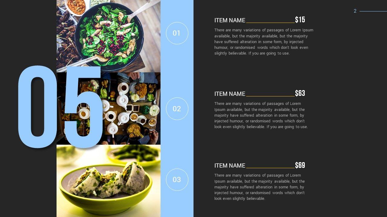 Restaurant Power Point Presentation Template #Power