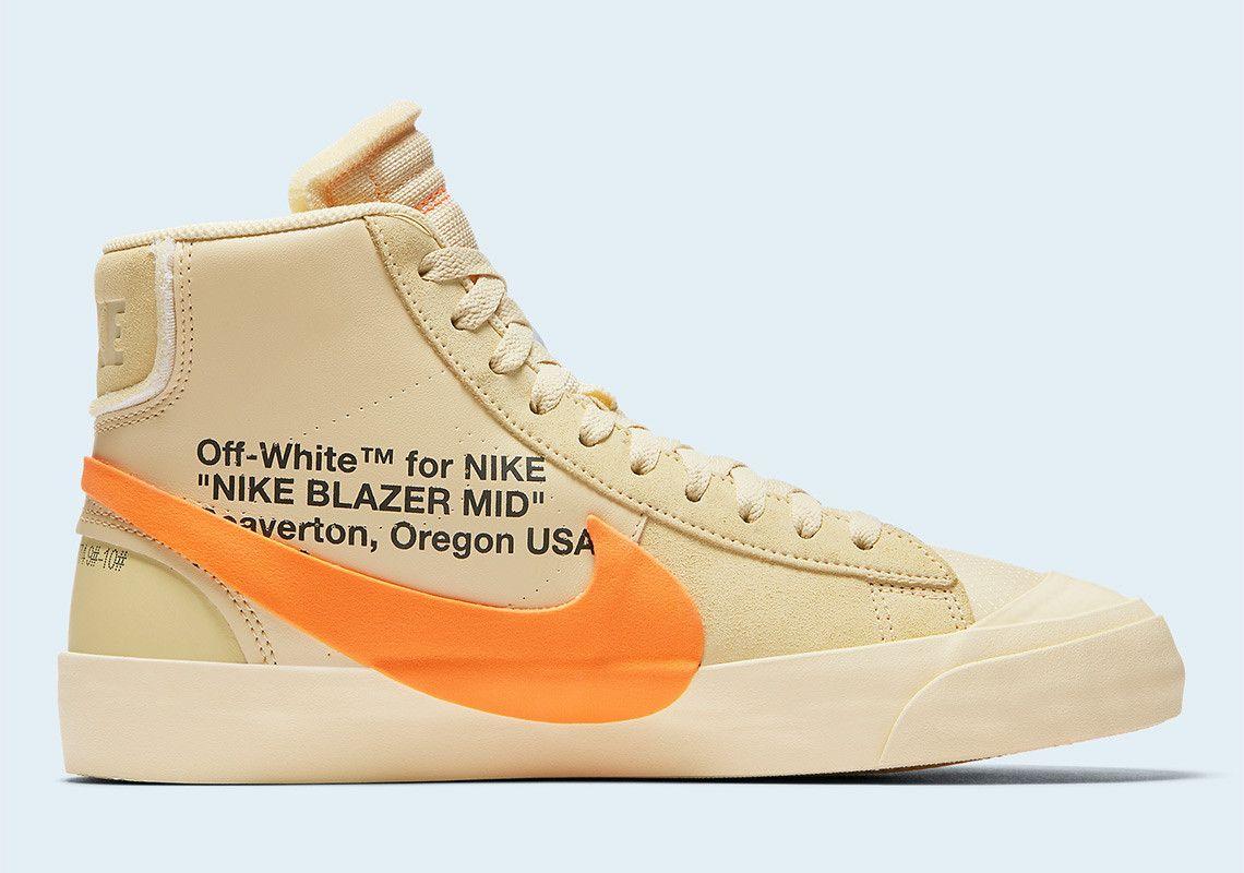 off white orange blazer