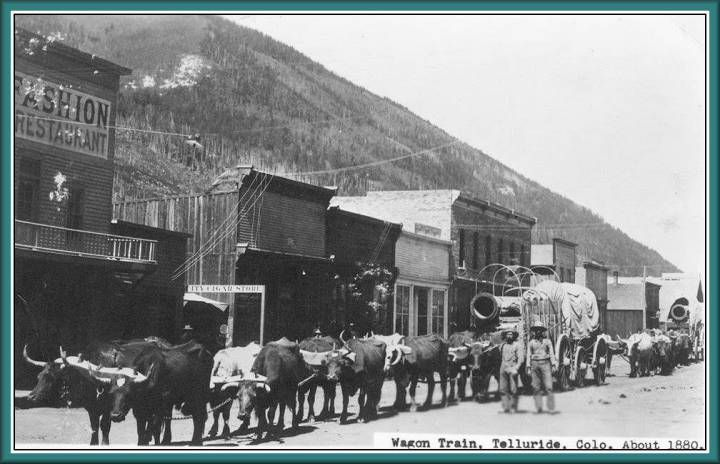 Main Street of Telluride, Colorado, 1880