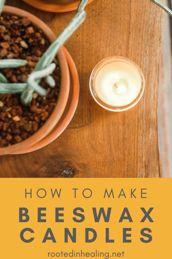 Diy Beeswax Candle Rooted In Healing In 2020 Beeswax Candles Diy Beeswax Candles Soy Candle Benefits