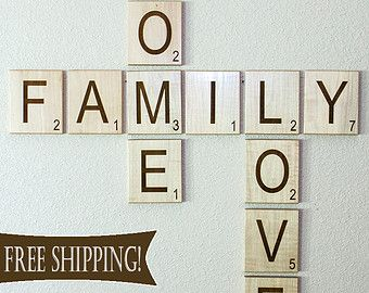Items Similar To MINI Scrabble Letters MINI Individual Scrabble Tiles  Crossword Wall Décor   Engraved Solid Wood On Etsy