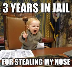 Jail Sentence Funny Baby Memes Funny Baby Pictures Funny Babies