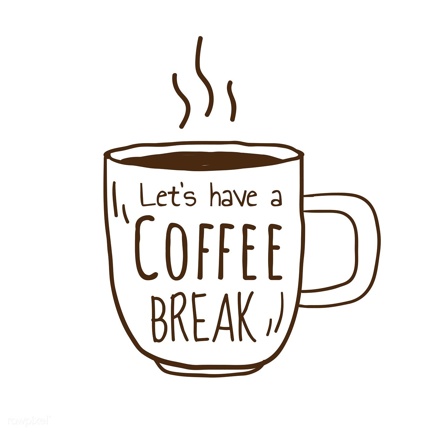 Let's have a coffee break vector free image by rawpixel