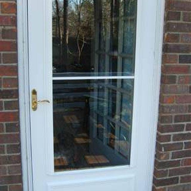 How To Fix A Storm Door That Won T Close Hunker Storm Door Storm Door Closer Door Repair